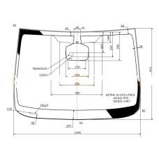 Стекло лобовое в клей OPEL ASTRA J 5D HBK / WGN